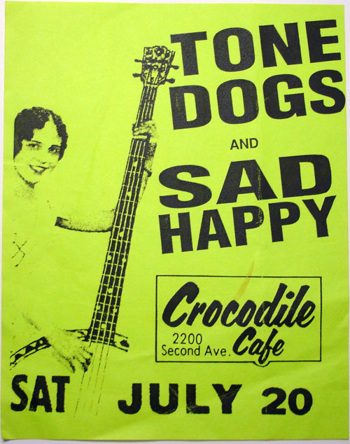 Tone Dogs & Sadhappy Flyer