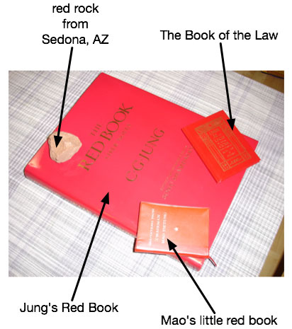 Annotated picture of Jung's Red Book family.